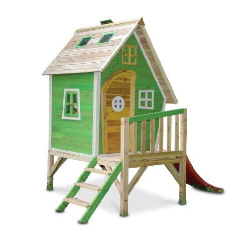 Unbekannt Kinderspielhaus MAYA - Stelzenhaus aus Holz mit Rutsche