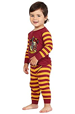 Harry Potter Gryffindor House Crest Cotton Baby Pajama Gift Set, Gryffindor, 6MO Red
