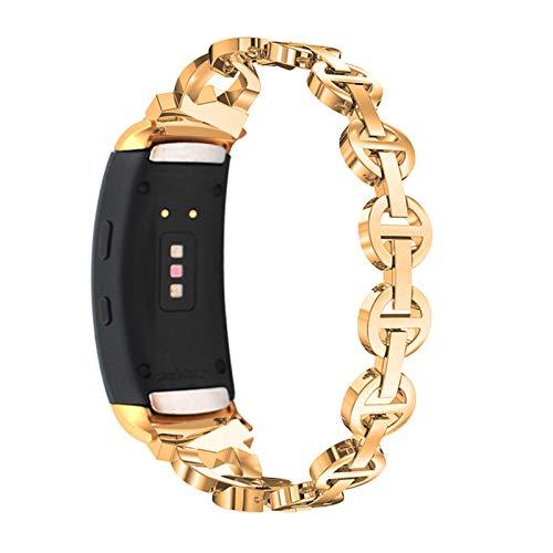 TWBOCV Cinturini Gear Fit 2 PRO, Cinturino in Metallo Gear Fit 2 / Fit 2 PRO Braccialetto/Accessori/Cinturino Regolabile per Samsung Gear Fit 2 / Fit 2 PRO R360 / R365 Bling Bands (D02)