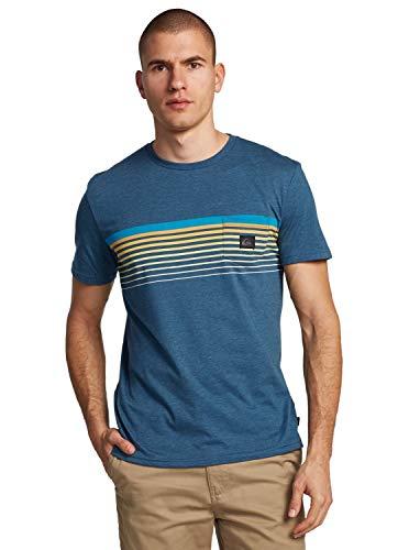 Quiksilver Herren Screen Tee Slab - Taschen-T-Shirt Für Männer, Majolica Blue Heather, XL, EQYZT05793