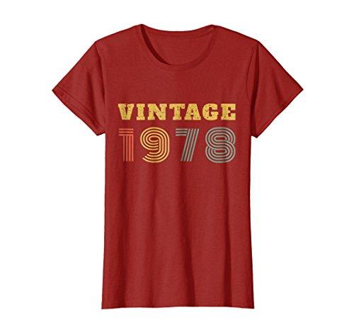 40th Birthday Gift Vintage 1978 Year T-Shirt