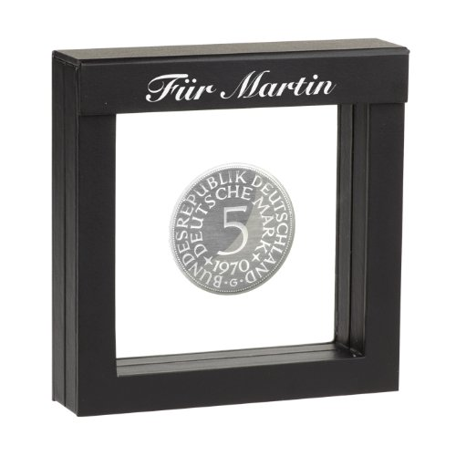 5 DM-Silbermünze 1970 mit Ihrer individuellen Namens-Gravur