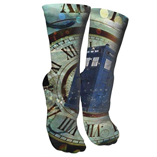 antfeagor Doctor Dr Who Police Box Mice Custom Design Cool Gaming Mousepd Mouse Pad Mat 12 Hiking Trekking Socks Casual Knee High Socks for Running,Medical,Athletic,Edema,Travel