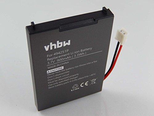 vhbw Li-Polymer Akku 900mAh (3.7V) für Babyphone, Babymonitor Audioline Watch & Care V120, V130, V131, V132, V150 wie 494251p, BPCK1500LI.