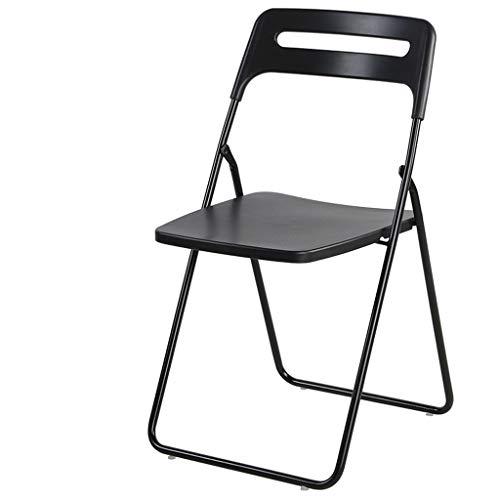 DUOER-Klappstühle Heavy Duty Kunststoff Falten Indoor/Outdoor, Büro/Camping Stuhl, Computer Stuhl Sitz-Trainings-Stuhl Home Dining Chair (Color : Black)