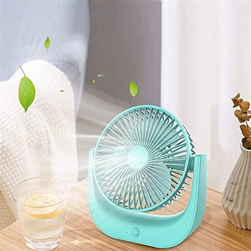 HUAXUE Mini fam, Venta Superior de Ventilador eléctrico portátil Macaron Pequeño Ventilador de Escritorio USB USB Hogar eléctrico Mesa de Cambio Ventilador (Color : Green)