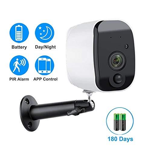 ZZKK Wifi-camera, 1080P, werkt op batterijen, 2,0 MP, HD, beveiliging, draadloze outdoor IP-camera, PIR alarm, audio-opname.