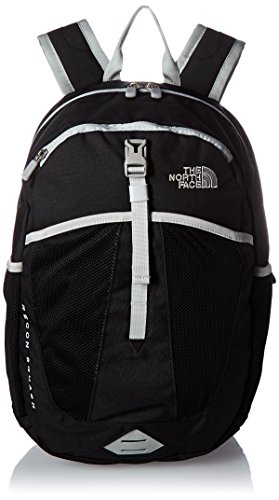 The North Face Youth Recon Squash School Backpack, TNF Black/High Rise Grey, OS