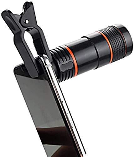 XXLYY Telescopio, Lente de cámara con Zoom óptico monocular 12x con Clip Adecuado para Lentes de teléfonos móviles para Adolescentes para observar Aves