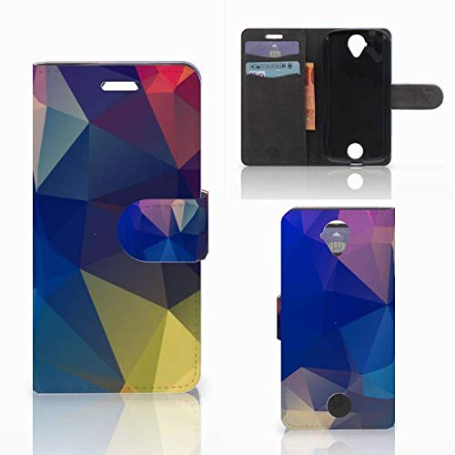 B2Ctelecom Hülle für Acer Liquid Z330 Tasche Polygon Dunkel