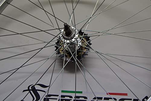 Cicli Ferrareis Cerchio Ruota Bici MTB 26x1.75 in Alluminio da 1 a 7v con pignone Incluso (7v)