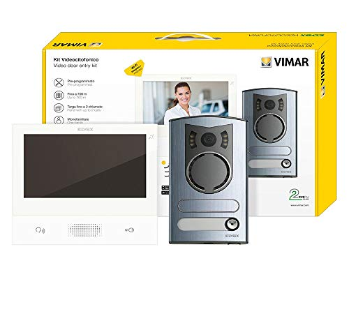VIMAR ELVOX K40507/M KIT VIDEOCITOFONO COLORI MONOFAMILIARE 2 FILI WIFI