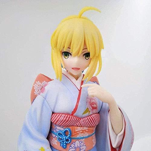 Fate Night Stay Night Disfraz de Saber Kimono Saiba Anime Doll Figura Estatuilla Decoracin Estatua Mueca Modelo Coleccin Anime Regalos Figuras de Anime 25cm