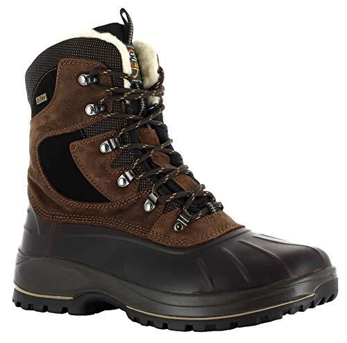 Jacalu Wengen warme Herren Canadian Boots/Winterstiefel mit Membrane Made IN Europe (44 EU)