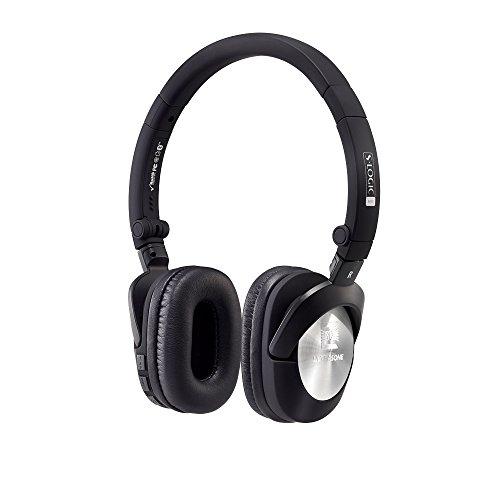 ULTRASONE GO aptX Bluetooth Kopfhörer in Schwarz-Silber mit Akku | Inklusive Transport-Tasche und Kabel