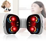 Shiatsu Neck Massager with Heat for Neck Pain Relief | 3D Intelligent Electric Kneading Massagers for Neck and Back for Deep Tissue Massage Full Body Muscle Relax, Neck Massager for Women & Men