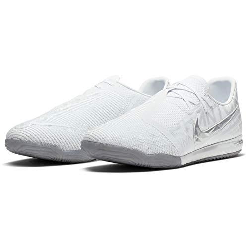 Nike Zoom Phantom Venom Pro IC, Zapatillas de fútbol Sala Unisex Adulto, Multicolor (White/Chrome/Metallic Silver 100), 38.5 EU
