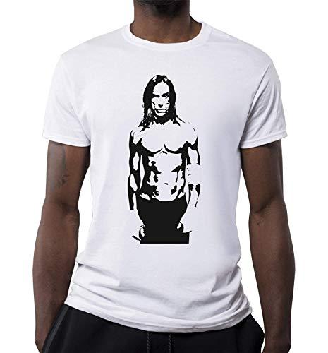 Iconic Punk Artiest Portret T-shirt voor heren