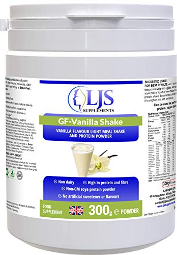 LJS Supplements GF Vanilla Shake for Nutrient Intake Weight Loss Recuperation Athletes Vegan Friendly Made in UK