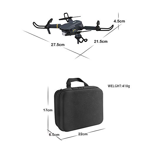 Aquarobo F89 Folding Mini Drone, with 4K HD Dual Cameras Suitable for Children and Adults, Long-Range Fixed-Height Quadcopter, Real-time Image Transmission, one-Key take-Off/Landing and Return, Black