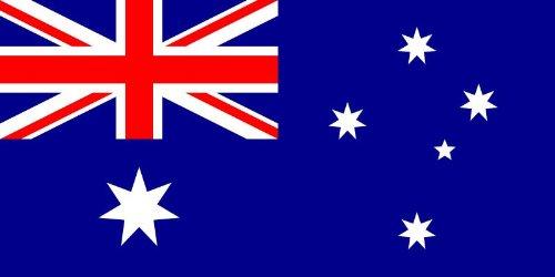 Aufkleber Fahne von Australien Flaggen Sticker Autoaufkleber