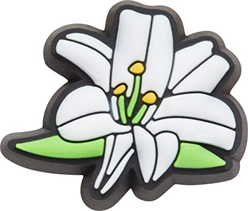 Crocs Unisex's Nature Shoe Charm   Personalize with Jibbitz Decoration, Lily Flower, One-Size