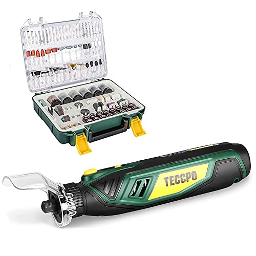 Rotary Tool Accessories Kit, 396pcs Grinding Polishing Drilling Kits + Cordless Rotary Tool 4V 5-Speed, 53 Accessories with Type-C Port, 2.0 Ah Li-ion Battery with Accessories Kit