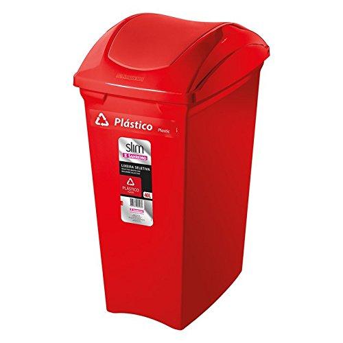 Lixeira Seletiva Plástico Sanremo Vermelho 40L Plástico