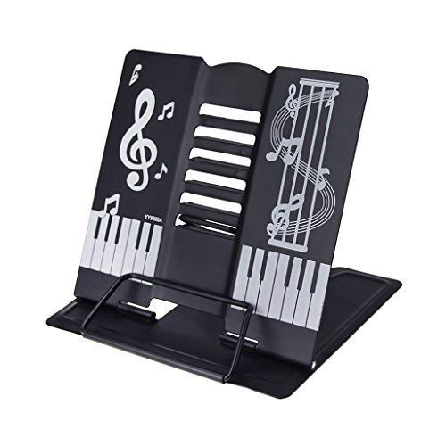 Soporte de lectura, atril de metal en formato de piano pupitre plegable...