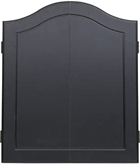 Outlaw Stained Wooden Dart Board Cabinet, Black (Renewed)