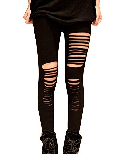 Gladiolus Pantalones Mujer Pantalones Rotos Pantalones Leggings Elástico Skinny Leggings Slim