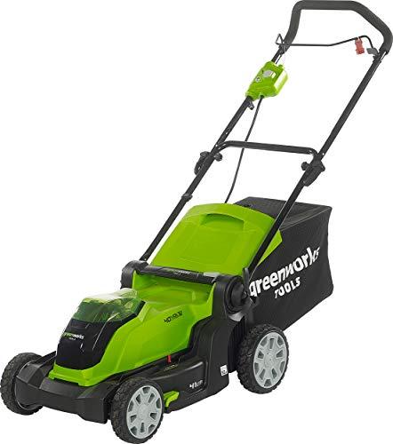 Greenworks Akku- Rasenmäher 40 V 4 Ah 50 l Mulcherfunktion Akkumäher Mäher