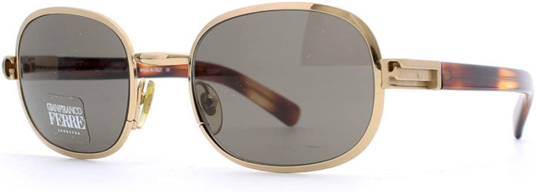Gianfranco Ferre 452 3ZA Brown and gold Authentic Men  Women Vintage Sunglasses