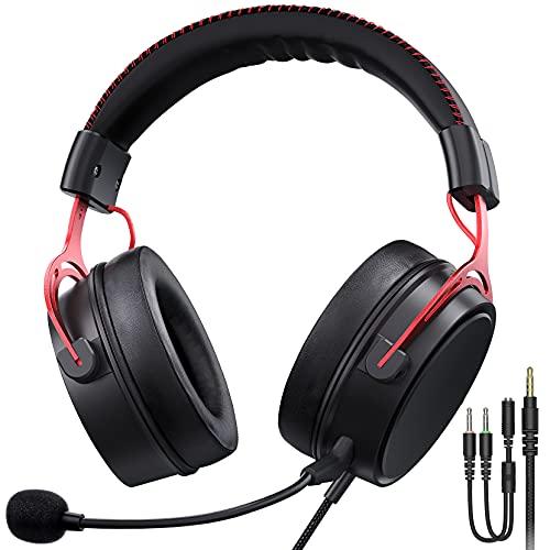 Cuffie Gaming per PS5 PS4, PC, Xbox One, Audio surround 7.1, Microfono con cancellazione del rumore, Cuffie da Gioco con 3.5mm Jack per Switch/Mac/Laptop