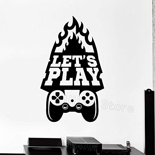 shiyueNB Gaming Wall Art Decals Boys Bedroom Decor Play Quote Video Game Stickers Modern Home Interior Decoration Wallpaper
