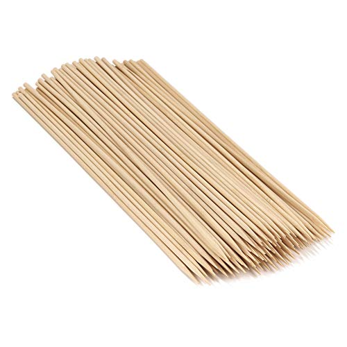 BambooMN 17.3' Long x 5mm Thick Sharp Point Bamboo Kabab Satay BBQ Skewers Party Supplies, 100 Pieces