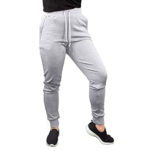 Golberg Women's Joggers – Lightweight, Breathable Sweatpants – Drawstring Waistband and Tapered Ankle – Perfect for Yoga, Workouts, Casual or Trendy Outfits – (Gray, Large)