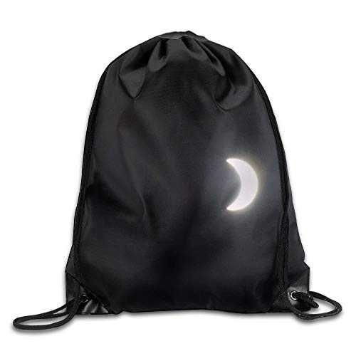 Etryrt Mochilas/Bolsas de Gimnasia,Bolsas de Cuerdas, Solar Eclipse Unisex Home Gym Sack Bag Travel Drawstring Backpack Bag for Men Women