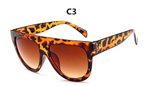 Kim Kardashian Zonnebrillen VrouwenRetro Flat Top Oversized Zonnebril Cat Eye Luxuryer Grote zwarte tinten Oculos