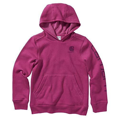 Carhartt Mädchen Hooded Fleece Pullover Sweatshirt Kapuzenpullover, rot, 32