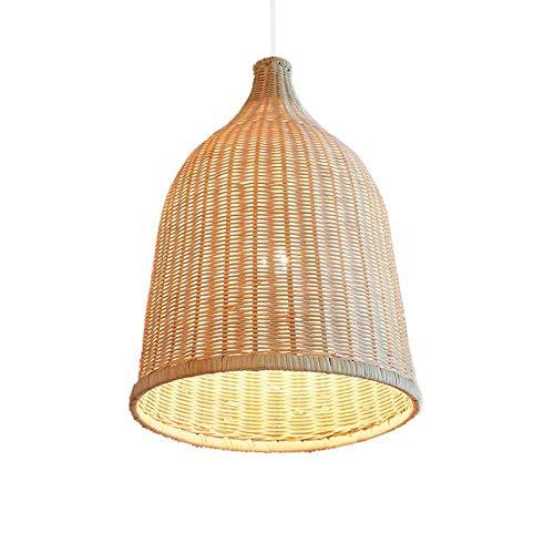 CHENJIA Araña, Moderno Diseño creativo moderno de la jaula de pasillo restaurante de la terraza tienda de decoración, material de bambú ratán, tamaño 42 * 29cm