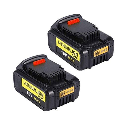 [2Stück] Coolsoul DCB200 5.0Ah 18V MAX XR Lithium-Ionen Ersatzakku für DeWalt DCB180 DCB181 DCB182 DCB184 DCB201 für DeWalt 18V Akku