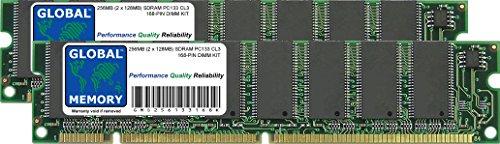 GLOBAL MEMORY 256MB (2 x 128MB) PC133 133MHz 168-PIN SDRAM DIMM Memoria...