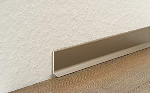 Aluminium Sockelleiste 270cm (40mm, Silber)