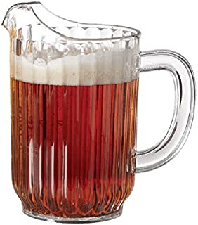 32 oz. Clear Plastic Pitcher, Dishwasher Safe, Break Resistant, for Indoor and Outdoor Entertaining, by GET P-3032-1-CL-EC (Pack of 1)