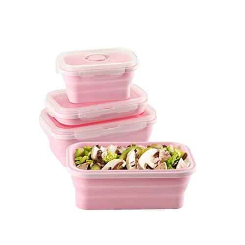 SaraCloth Fiambrera de silicona plegable para almacenamiento de alimentos en campamentos, 3...