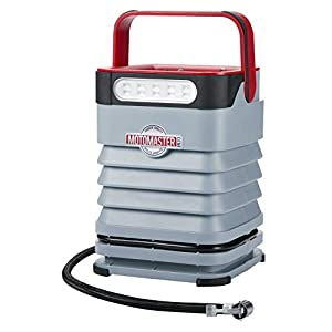 MOTOMASTER Portable Air Inflator-Compressor | Dual Motor 120PSI Dual Power Source | Programmable Digital Display Provides Live Data | AC/DC | For Tires, Bikes, Balloons, Auto, and Balls