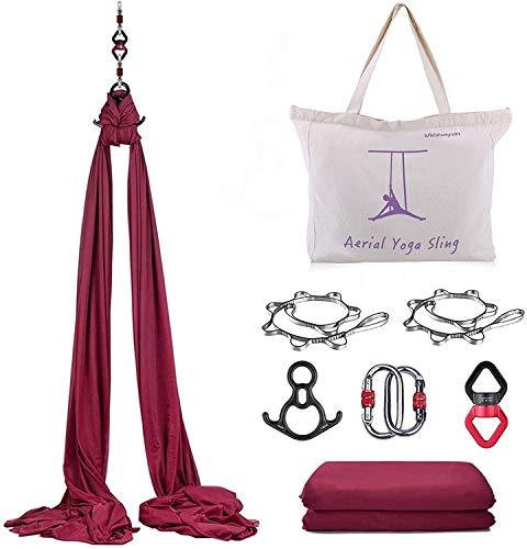 CLIENSY 10M Aerial Yoga Equipment Aerial Silks Yoga Swing Kit Antigravity Hammock for Trapeze Acrobatic Dance Air Yoga