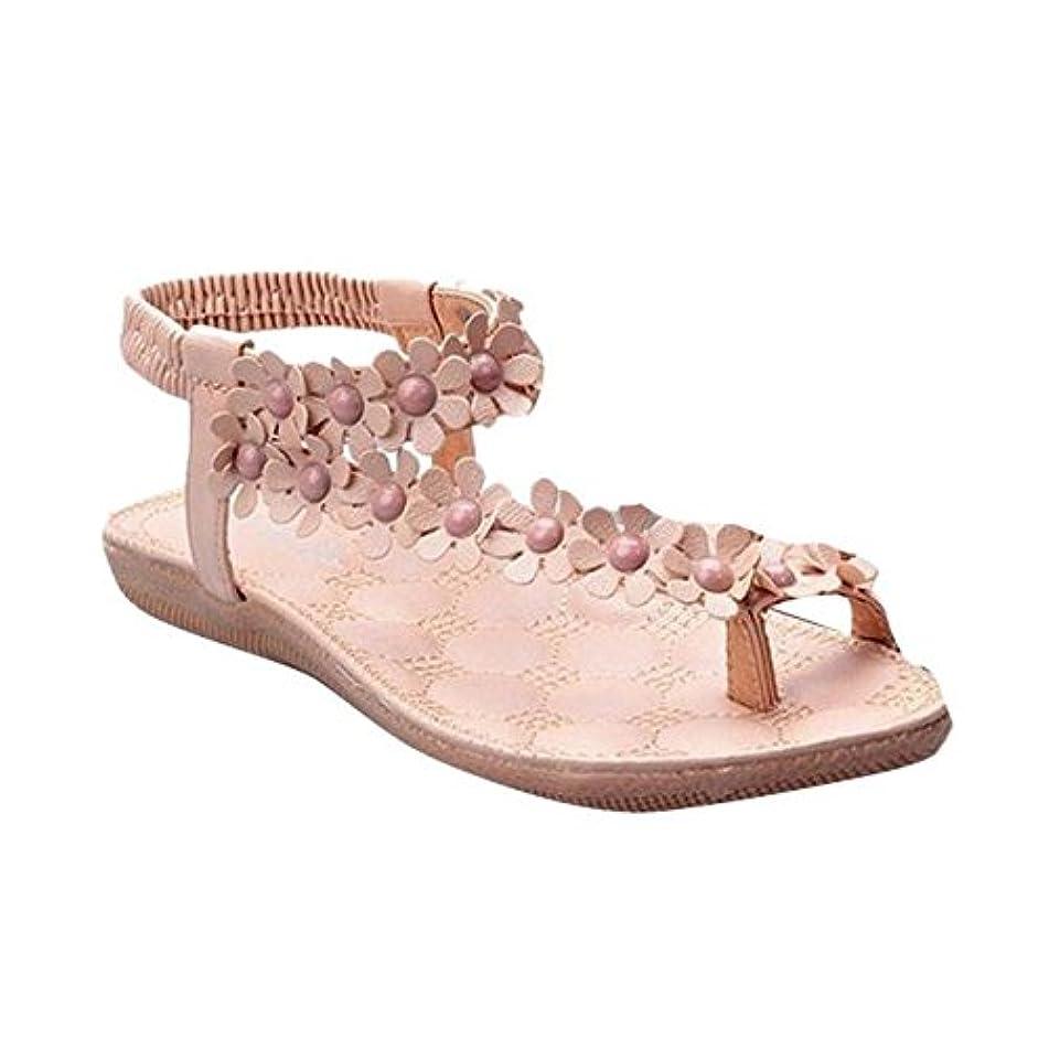 Summer Sandals,Boomboom Fashion Women Bohemia Sweet Beaded Sandals Clip Toe Sandals Beach Shoes