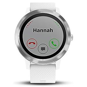 Beach Camera Garmin 010-01769-21 Vivoactive 3 GPS Fitness Smartwatch (White & Stainless) + 1 Year Extended Warranty